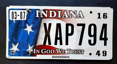 IN Indiana - In God We Trust - Flag - XAP794