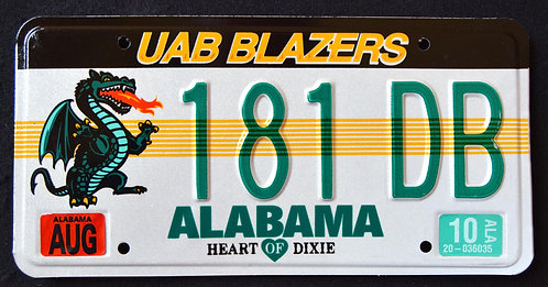 AZ UAB Blazers - Dragon - Football - University Of Birmingham, AL-  181DB