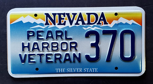 NV Pearl Harbor Veteran - Silver State - 370