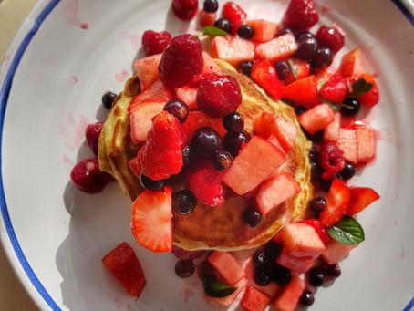 Homely Healthy Pancake Breakfast in Corona Times