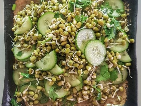 Detox with a Cooling Sprouted Mung Bean & Cucumber Salad