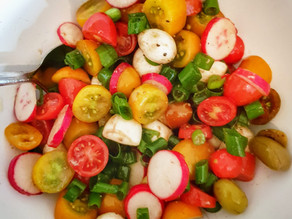 A Colorful End of Summer Salad