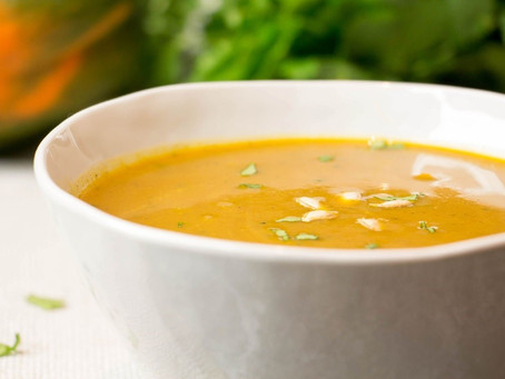 Butternut Squash & Lentil Curry Soup