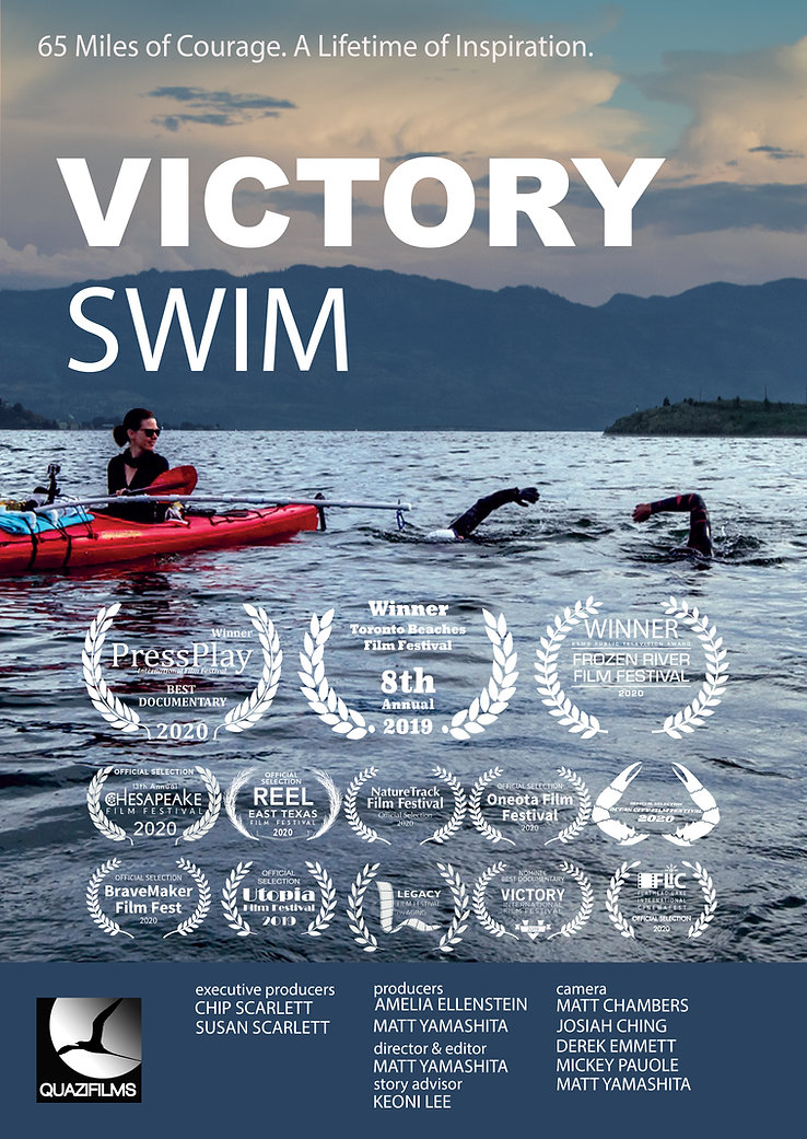 VictorySwim Documentary Poster 12x18 11-