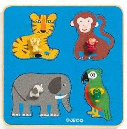 Houten puzzel Jungle - Djeco