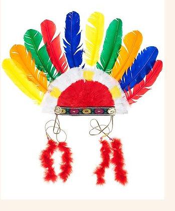 Hoofdtooi indiaan (multicolor)