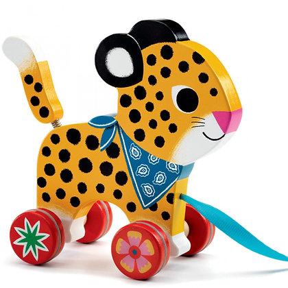 Jouet à tirer léopard - Djeco