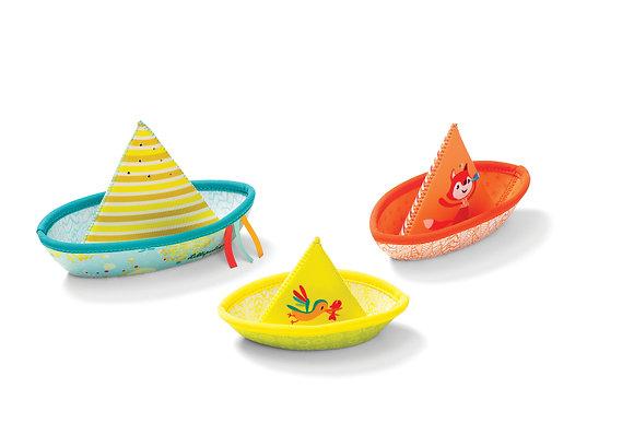Ensemble de trois bateaux - Lilliputiens