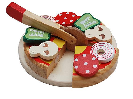 Pizza en bois à couper