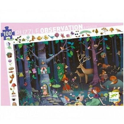 Puzzle d'observation forêt enchanté 100 pièces - Djeco