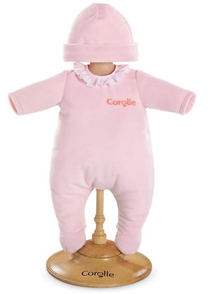 Pyjama rose pour poupon 30cm