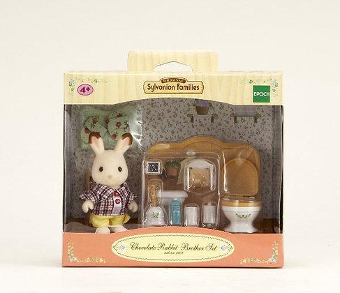 Le frère lapin chocolat et toilettes - Sylvanian Families