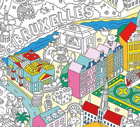 Inkleurposter Brussel van Omy