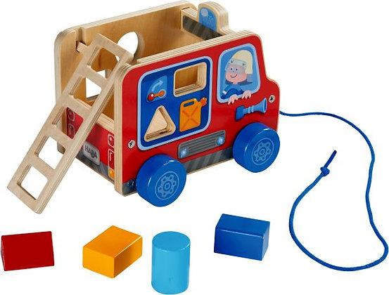 Trekfiguur brandweerwagen - Haba
