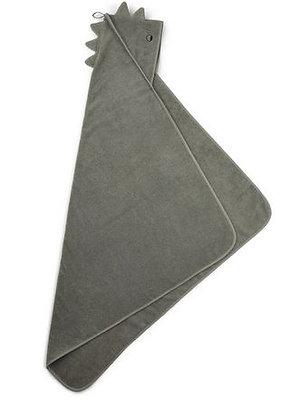 Handdoek met kap, dino groen - Liewood