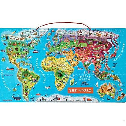 Puzzel wereldkaart