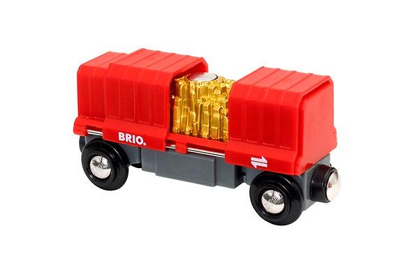Goud cargo lader trein - Brio