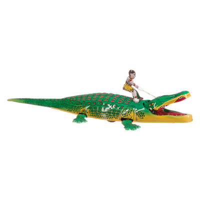 Crocodile métallique à remonter