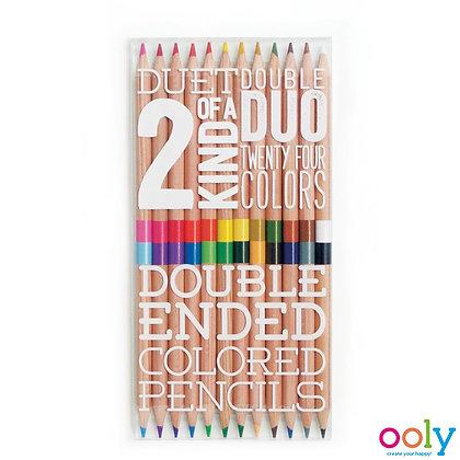 Dubbelzijdige kleurpotloden 12 stuks - Ooly