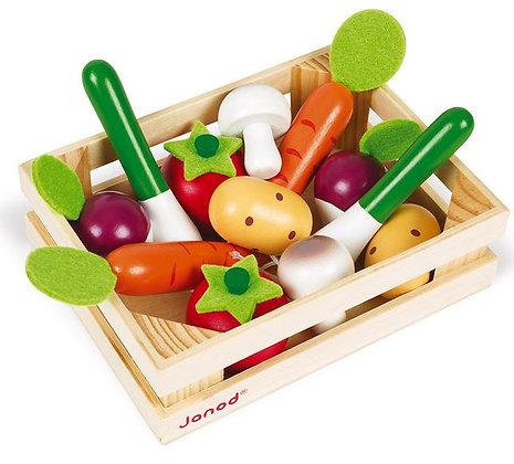 Cagette de 12 légumes (bois) Janod