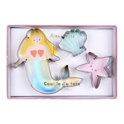 Zeemeermin koekjesvormen - Meri Meri