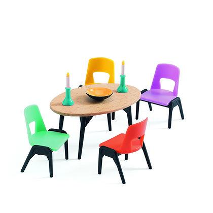 Eetkamer meubeltjes voor poppenhuis - Djeco