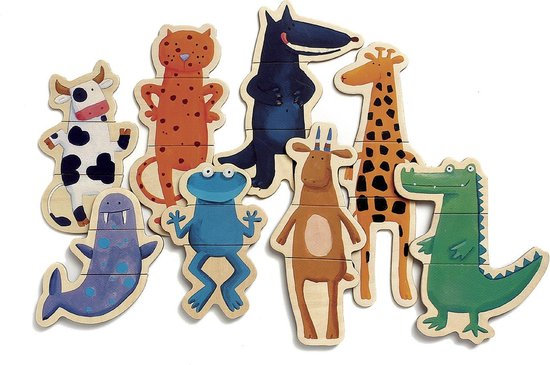 Magnetische puzzel Gekke dieren - Djeco