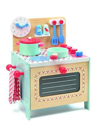 Blauw keukentje in hout - Djeco