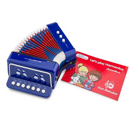 Accordéon Bleu avec Livre - New Classic toys