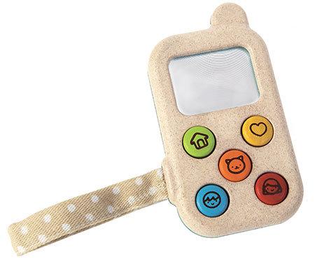 Baby's eerste telefoon van Plan Toys