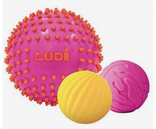 Set van 3 ballen voor de zintuigen - Ludi