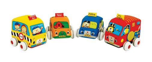 Vehicule souple en tissus à retro-friction - K's Kids