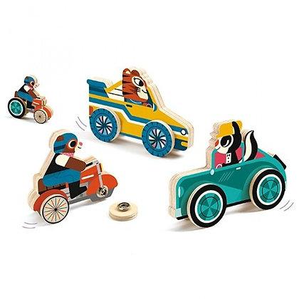 Dieren op wielen 'Clip & Roll'  - Djeco