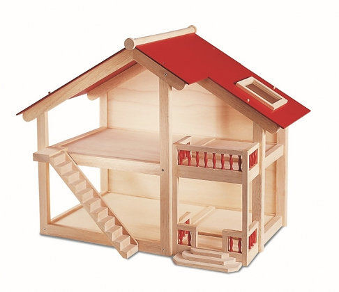 Poppenhuis uit hout - Pintoy