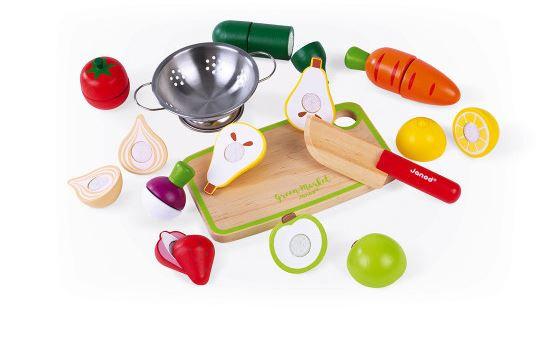 Fruit en groenten om te snijden van hout - Janod