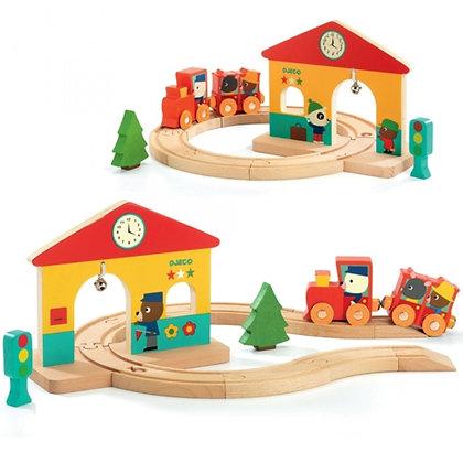 Mini train en bois - Djeco