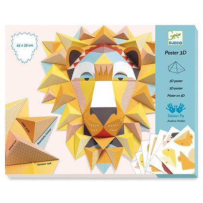 3D poster leeuw - Djeco