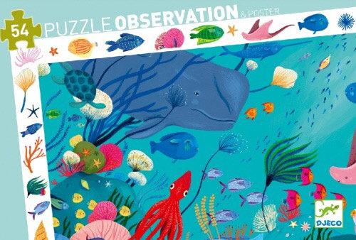 Observatiepuzzel Oceaan 54 pcs - Djeco