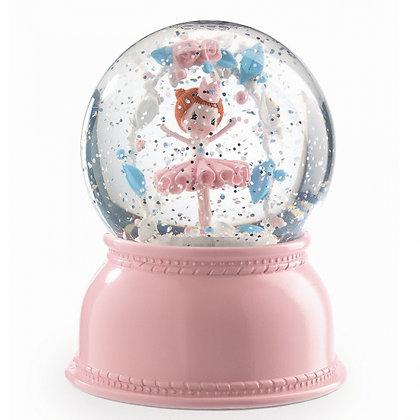 Nachtlampje glitterbal ballerina