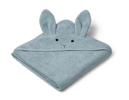 Handdoek met kap, konijn zeeblauw - Liewood