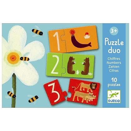 Duo Puzzel Nummers - Djeco
