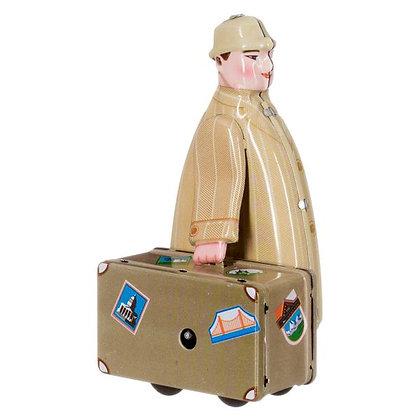 Homme avec valise à remonter - Mechato