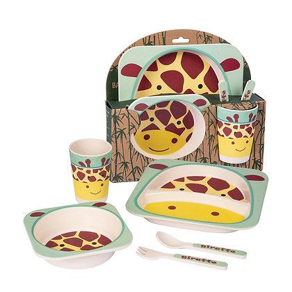 Coffret repas bambou girafe - Eco Stuff