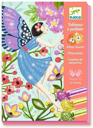 Glitterschilderijen: feeën - Djeco