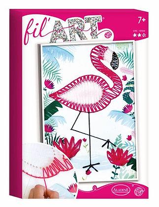 Draadkunst flamingo - Aladine