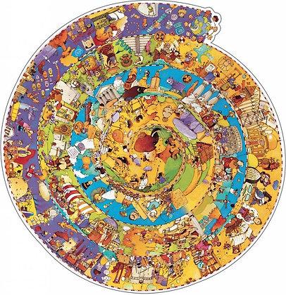 Observatiepuzzel 350 stukjes Een rondje geschiedenis - Djeco