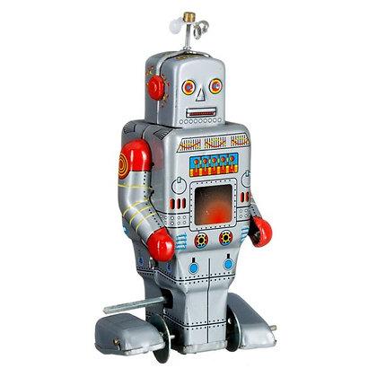 Opwindbare robot grijs - Mechato