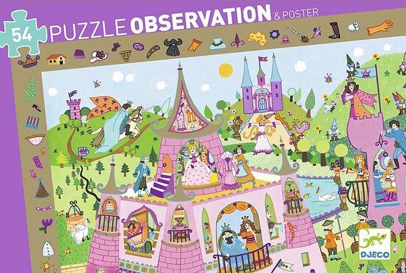 Observatiepuzzel Princessen 54 pcs - Djeco