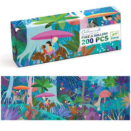Puzzel junglewandeling 200 pcs - Djeco