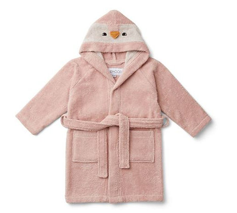 Liewood Lily Bathrobe - Penguin rose